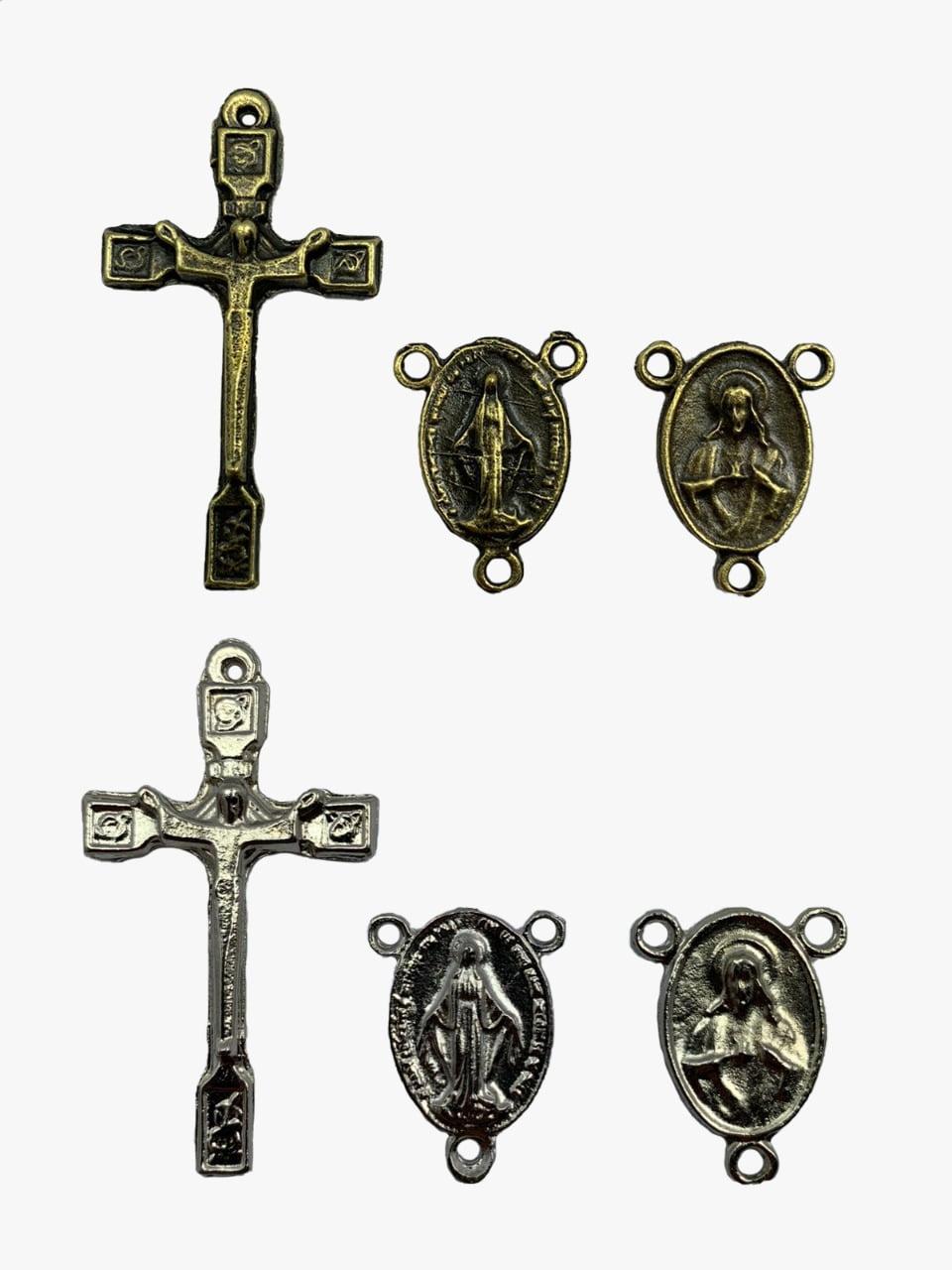Kit Crucifixo c/ Cristo Est. e entremeio N.Sra. Graças c/ Jesus