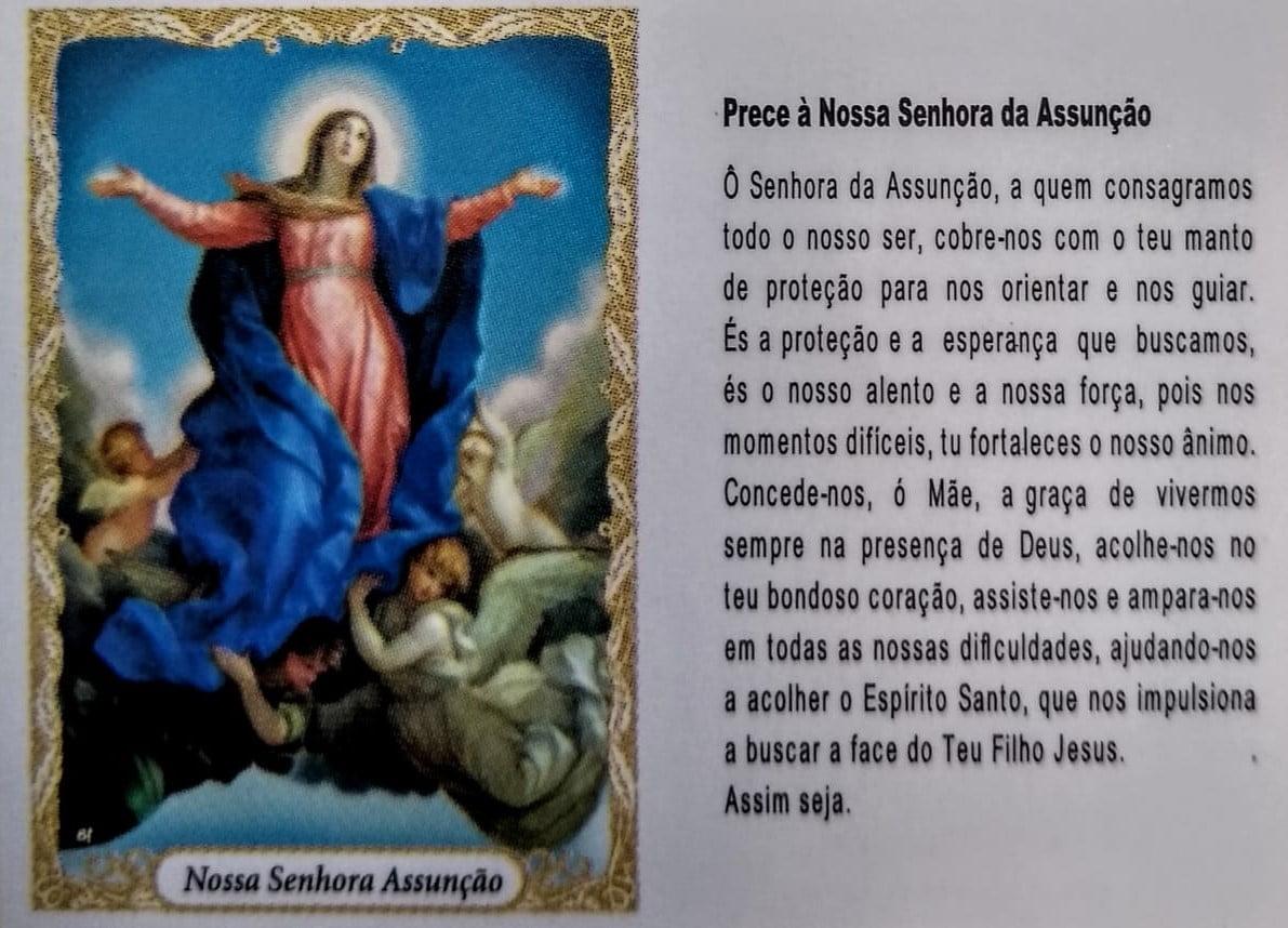 Santinho de papel Nossa Senhora da Assunção (pacote com 100)