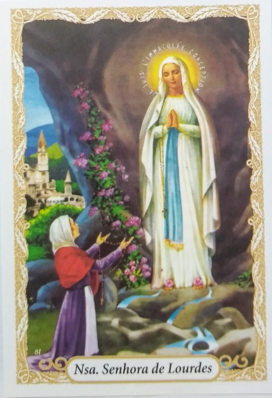 Oração de Nossa Senhora de Lourdes ( Pacote com 100)