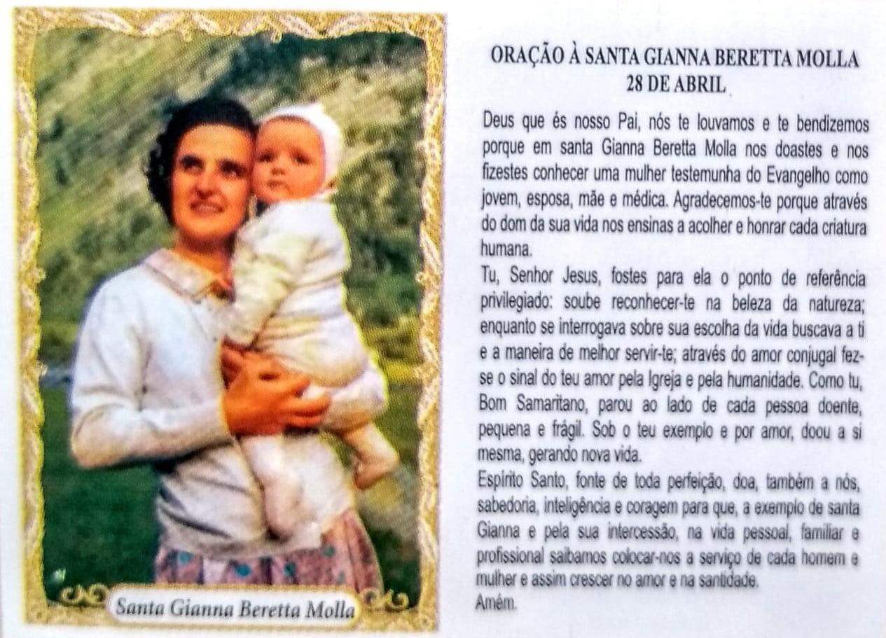 SANTA GIANNA BERETTA MOLLA - PACOTE C/ 100 SANTINHOS DE PAPEL