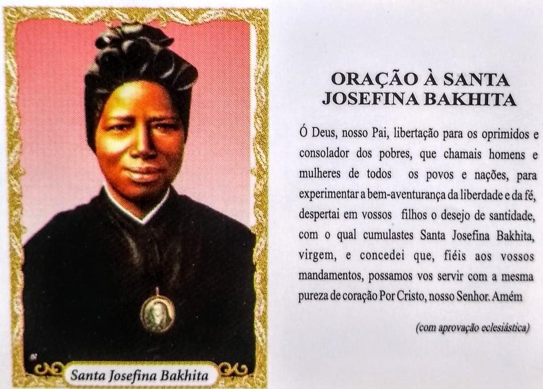 SANTA JOSEFINA BAKHITA - PACOTE C/ 100 SANTINHOS DE PAPEL