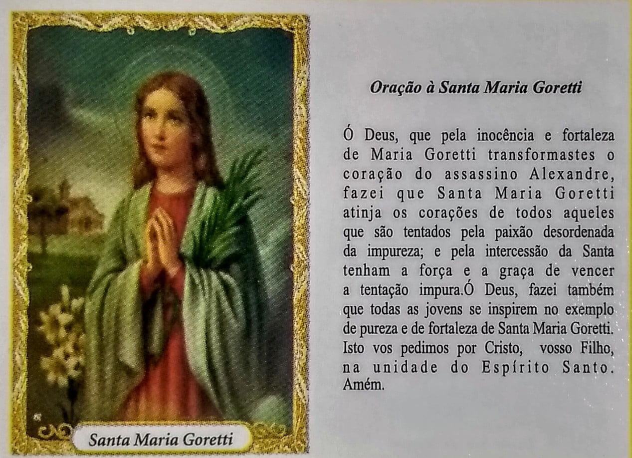SANTA MARIA GORETTI- PACOTE C/ 100 SANTINHOS DE PAPEL