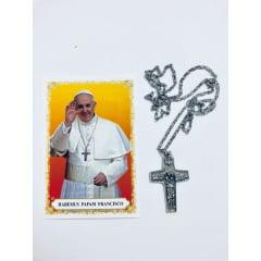 Crucifixo com corrente inox