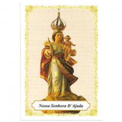 NOSSA SENHORA D'AJUDA - PACOTE C/ 100 SANTINHOS DE PAPEL