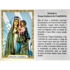 Santinho de Papel Nossa Senhora da Candelária (pacote com 100)