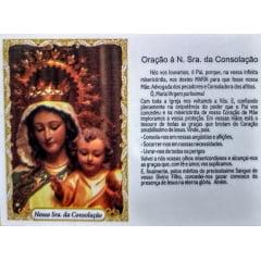 NOSSA SENHORA DA CONSOLAÇÃO - PACOTE C/ 100 SANTINHOS DE PAPEL