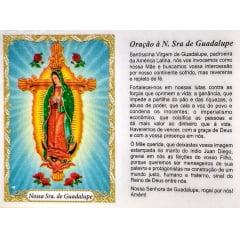 Nossa Senhora de Guadalupe - Pacote com 100 santinhos de papel