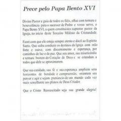 PAPA BENTO XVI - PACOTE C/ 100 SANTINHOS DE PAPEL