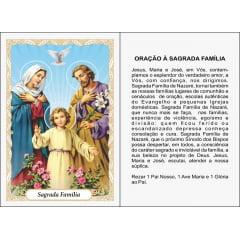 SAGRADA FAMÍLIA -PACOTE C/ 100 SANTINHOS DE PAPEL