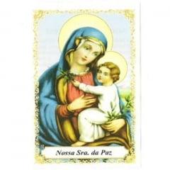 santinho nossa senhora da paz