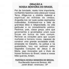 SANTINHO DE PAPEL DE NOSSA SENHORA DO BRASIL - PACOTE C/ 100