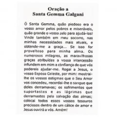 SANTINHO DE PAPEL DE SANTA GEMMA GALGANI - PACOTE C/100