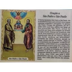 SÃO PEDRO E SÃO PAULO  - PACOTE C/ 100 SANTINHOS DE PAPEL